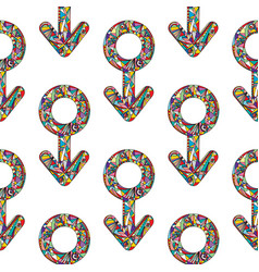 abstract male and female gender signs vector image