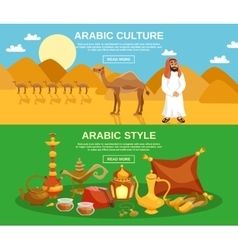 Arabic Culture Banner vector image