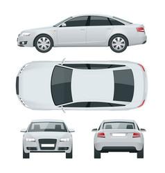 business sedan vehicle car template vector image