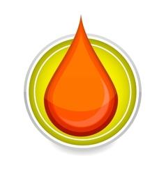 elegance medic symbol blood drop red color vector image vector image
