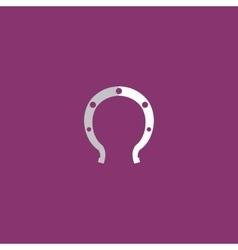 Horseshoe flat icon vector image