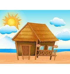 House on the beach vector image