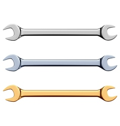Open-end wrench vector image vector image