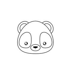 panda drawing face vector image