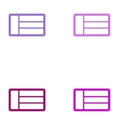 Set of paper stickers on white background emirates vector