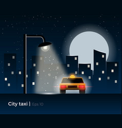 taxi car vector image