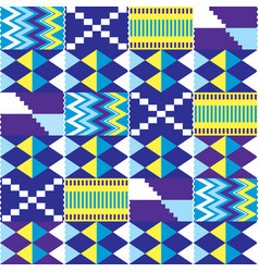 African kente nwentoma seamless pattern vector