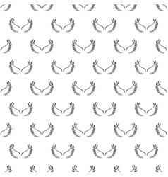 angel white wings sketch pattern vector image