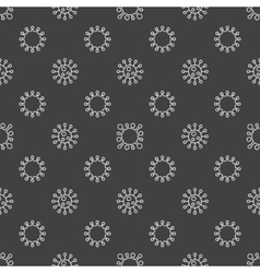 Bacterium seamless pattern vector image