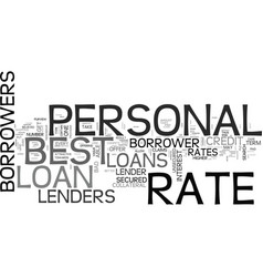 Best rate personal loans one of the most sought vector