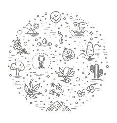 big natural icon set vector image