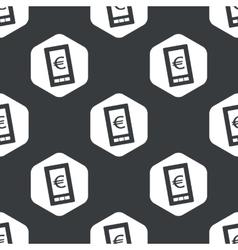 Black hexagon euro screen pattern vector