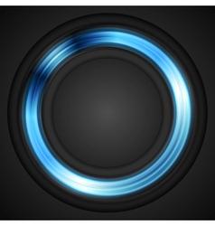 Blue glowing circle logo vector