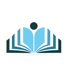 Book learning icon vector