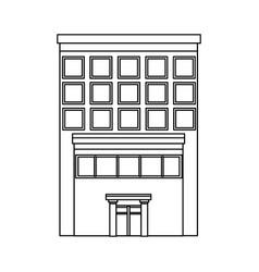 Business building center facade office exterior vector