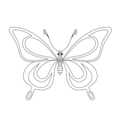 butterfly monochrome contours vector image