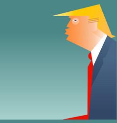 Caricature of president donald trump vector