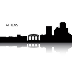 Cityscape of athens vector