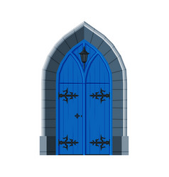 classic blue double door vintage style facade vector image