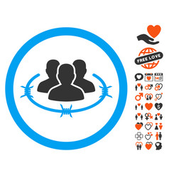 concentration camp icon with lovely bonus vector image