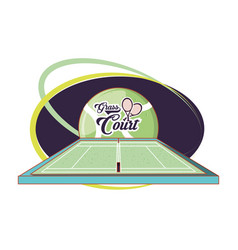 Courts of tennis sport with rackets vector