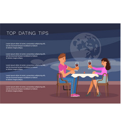 Dating tips landing page website template vector