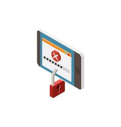 Digital control icon vector