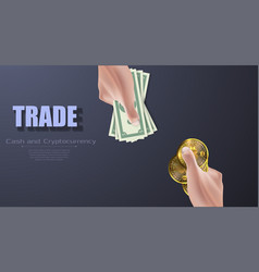 dollar to bitcoin currency exchange vector image