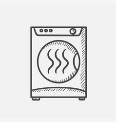 Dryer hand drawn sketch icon vector