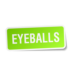 eyeballs square sticker on white vector image
