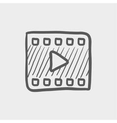 Film strip sketch icon vector image