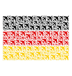 Germany flag pattern of jet plane items vector