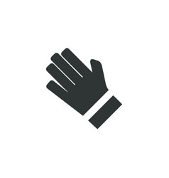 golf glove icon simple cloth element game symbol vector image
