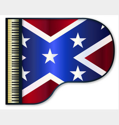 Grand piano confederate flag vector