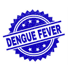 Grunge textured dengue fever stamp seal vector
