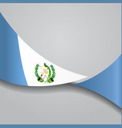 Guatemalan wavy flag vector