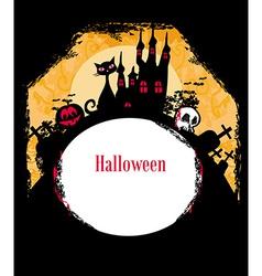 Halloween invitation poster vector