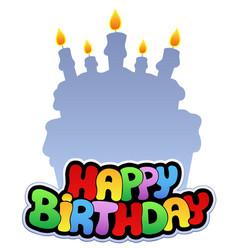 Happy birthday theme 2 vector