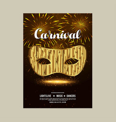 happy brazilian carnival day brown and black vector image
