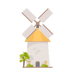 Holland windmill isolated on white background vector
