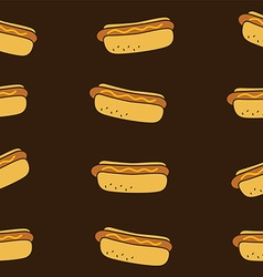 Hotdog fasfood theme vector