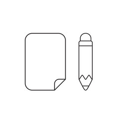 Icon concept paper with pencil vector