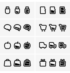 Indicator icons vector image