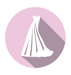 isolated wedding clothes vector image