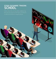 Izometric trader school vector
