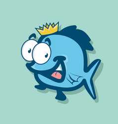 King fish cartoon vector