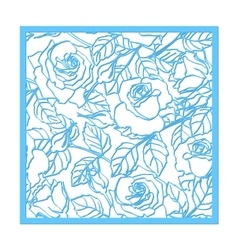 Laser cut rose ornament Cutout pattern vector image