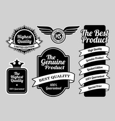 limited edition highest quality badges vector image