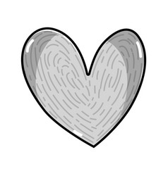 line nice heart to love and romance symbol vector image