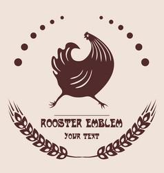 Logo poultry farm vector